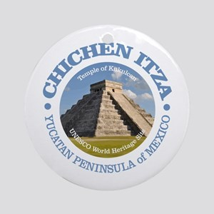 Chichen Itza Round Ornament