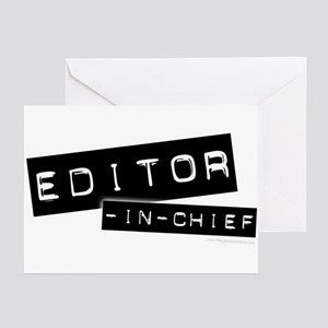 """""""Editor-in-Chief"""" Greeting Cards (Pk of 10)"""