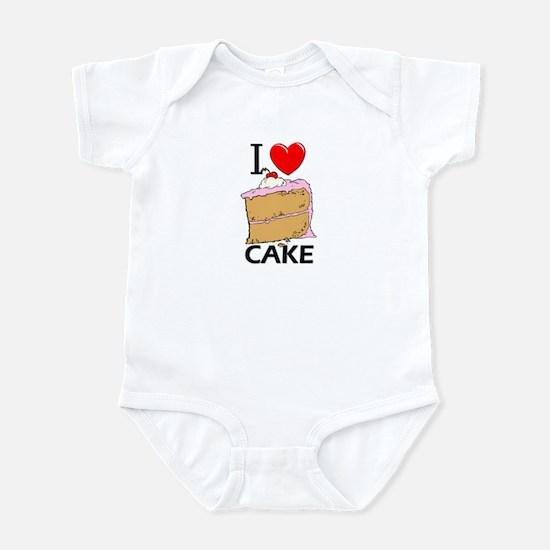 I Love Cake Infant Bodysuit