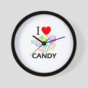 I Love Candy Wall Clock