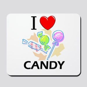 I Love Candy Mousepad