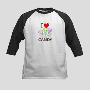 I Love Candy Kids Baseball Jersey