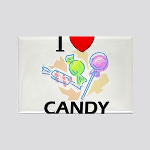 I Love Candy Rectangle Magnet