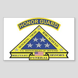 Honor Guard Rectangle Sticker