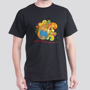 Groovy American Eskimo Dog Dark T-Shirt