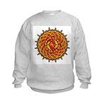 Celtic Knotwork Sun Kids Sweatshirt