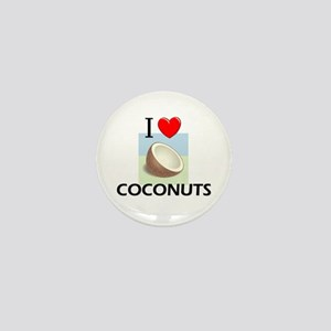 I Love Coconuts Mini Button