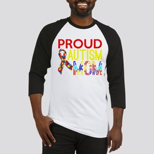 Proud,Autism,Mom,Awareness Baseball Jersey