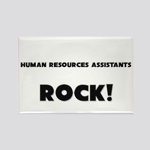 Human Resources Assistants ROCK Rectangle Magnet