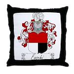 Foschi Family Crest Throw Pillow