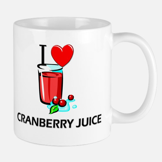 I Love Cranberry Juice Mug