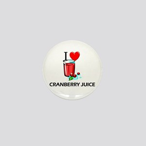 I Love Cranberry Juice Mini Button