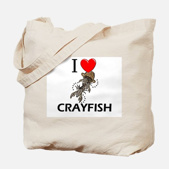 I Love Crayfish Tote Bag
