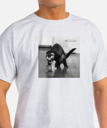 Ferret Saying 166 Ash Grey T-Shirt