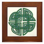Celtic Four Leaf Clover Framed Tile