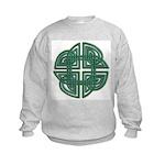 Celtic Four Leaf Clover Kids Sweatshirt