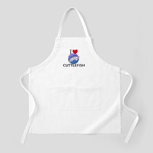 I Love Cuttlefish BBQ Apron