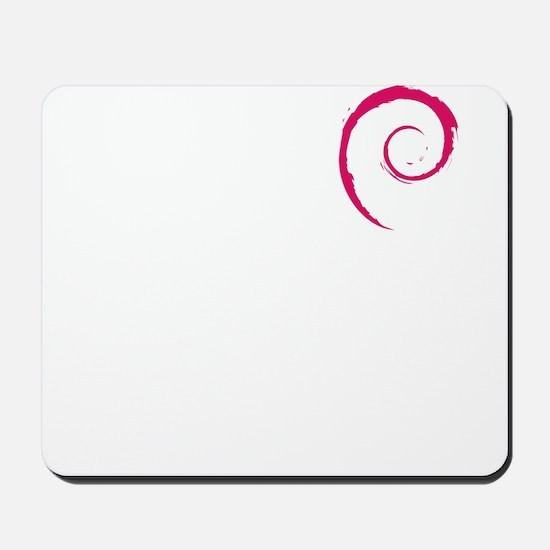 Debian Red Swirl Mousepad