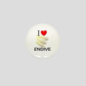 I Love Endive Mini Button