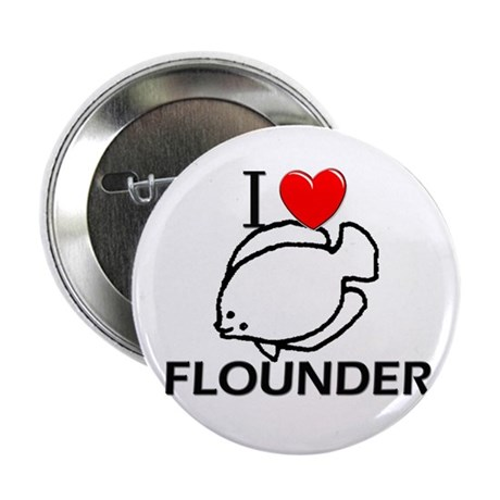 "I Love Flounder 2.25"" Button (10 pack)"