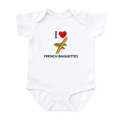 I Love French Baguettes Infant Bodysuit