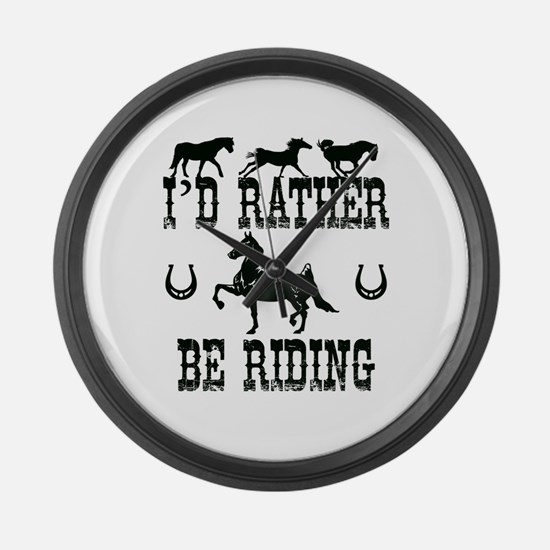 Cool Tennessee walking horses Large Wall Clock