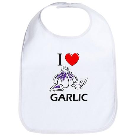 I Love Garlic Bib