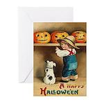 Halloween Jack O'Lanterns Greeting Cards (Pk of 10