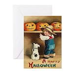 Halloween Jack O'Lanterns Greeting Cards (Pk of 20