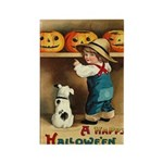 Halloween Jack O'Lanterns Rectangle Magnet