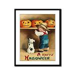 Halloween Jack O'Lanterns Framed Panel Print