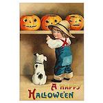 Halloween Jack O'Lanterns Large Poster