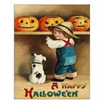Halloween Jack O'Lanterns Small Poster