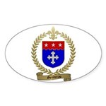 GENDREAU Family Crest Oval Sticker