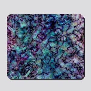 Purple and Teal Marble Watercolor Mousepad
