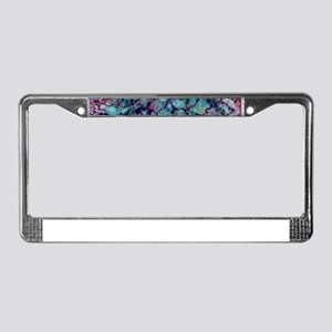 Purple and Teal Marble Waterco License Plate Frame