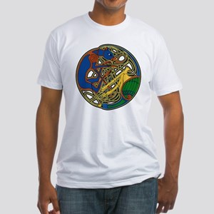 Celtic Hound & Bird Knot Fitted T-Shirt