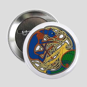"Celtic Hound & Bird Knot 2.25"" Button"