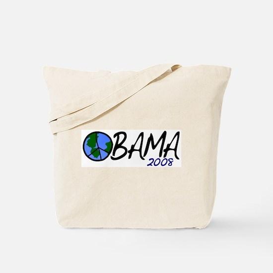 Obama 2008 (Peace on Earth) Tote Bag