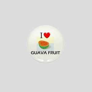 I Love Guava Fruit Mini Button