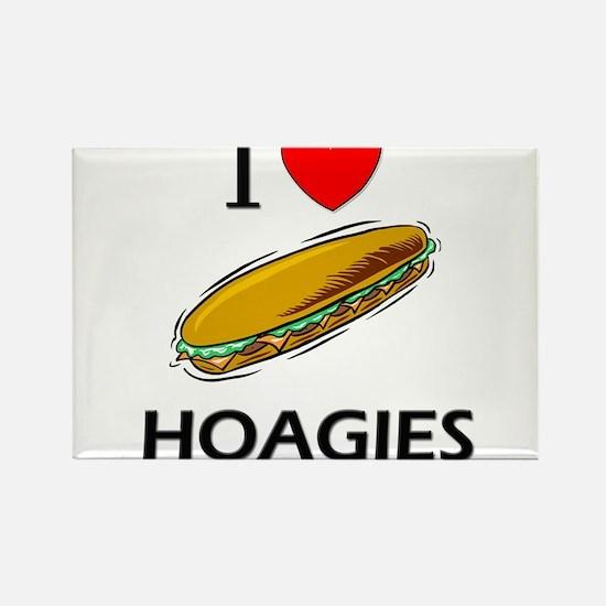 I Love Hoagies Rectangle Magnet
