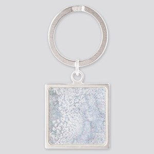 Gray and White Marble Watercolor Keychains