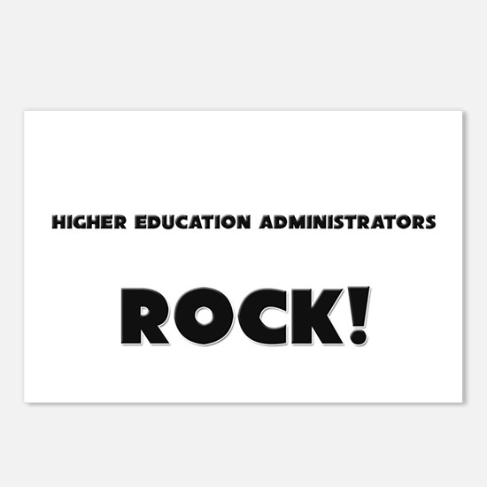 Higher Education Administrators ROCK Postcards (Pa