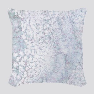 Gray and White Marble Watercol Woven Throw Pillow