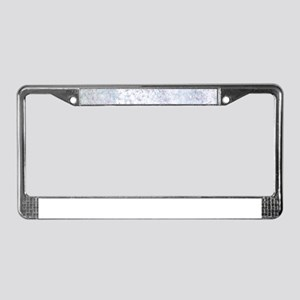 Gray and White Marble Watercol License Plate Frame