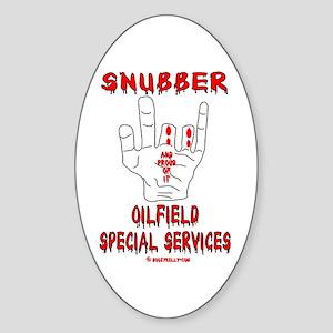 Snubber Oval Sticker
