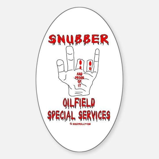 Snubber Oval Bumper Stickers