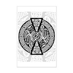 Celtic Knotwork Dragons Mini Poster Print