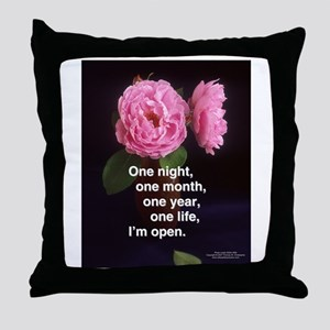 night/lifetime Throw Pillow