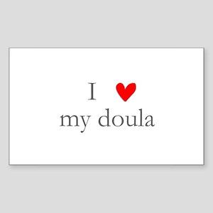 I love my doula Rectangle Sticker